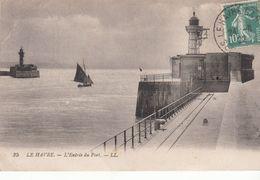 G , Cp , 76 , LE HAVRE , L'Entrée Du Port - Port