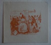Ex-libris Illustré,  XIXème - Georges GOURY (docteur En Droit, Avocat à La Cour) D'après Un Dessin De Grandville - Ex-libris