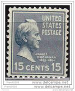 USA 1938, Presidential Issue, James Buchanan, 15c, MNH