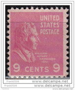 USA 1938, Presidential Issue, William Harrison, 9c, MNH