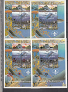 Tuva Touva,4 Diff,blocks With Sealife,fish,whale,scouting.rotary,pacific 97i,MNH/Postfris(C145) - Maritiem Leven