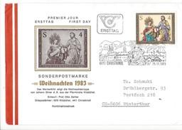 15950- Christkindl  Cover Sonderpostmarke Weihnachten 25.11.1983 Pour Winterthur CH - Noël
