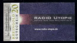 "Regionalgeld, Local Currency ""RHEINGOLD"" 20 Units, UNC, Polymer - Sonstige"