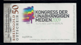 "Regionalgeld, Local Currency ""RHEINGOLD"" 50 Units, UNC, Polymer - Sonstige"