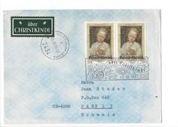 15953- Christkindl  Cover 13.12.1971  Pour Basel + VignetteChristkindl - Noël