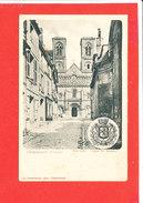 86 CHATELLERAULT Cpa Rue Sully Eglise St Jacques Blason Edit Arambourou - Chatellerault