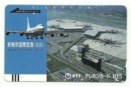Giappone - Tessera Telefonica Da 105 Units T181 - NTT, - Aerei