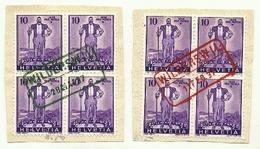 1936 - Svizzera 286 Pro Patria - Timbro Rosso E Nero