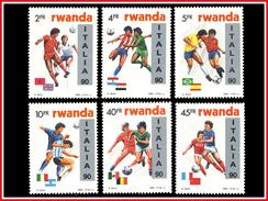 Rwanda 1371/76**  ITALIA 1990  MNH Dessin De Buzin - Rwanda