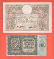 War Currency Croatia Hrvatska & France Francia - Banconote