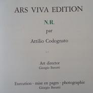 CODOGNATO. Livret Des Nouveaux Réalistes. Ars Nuevo Edition. 1973 Avec Estampe De Restany Et Planche De Klein - 50X50 Cm - Art
