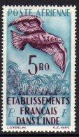 Inde P.A. N° 20 X 5 R. Bleu Clair Et Brun-lilas, Trace De  Charnière Sinon TB