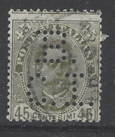 Italia - 1891/96 - Usato/used - Umberto I - Perfin BCI - Sass N. 63 - 1878-00 Umberto I