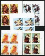 656b  Sharjah MNH ** Mi N° 1012 / 1016 B Bloc 4 Singes (monkeys Apes) Colombus Mandrill Chimpanzee Non Dentelé (imperf)
