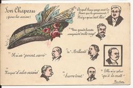 8947. CPA SATIRIQUE ILLUSTRATEUR FERCHAM. PROCES HENRIETTE CAILLAUX. SON CHAPEAU POUR LES ASSISES - Satiriques