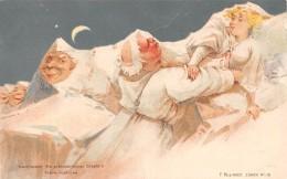 Illustrateur  Suisse  Killinger Surréalisme . Nachiscane.  Scène Nocturne   ( Petit Manque Papier A Droite) - Illustrateurs & Photographes