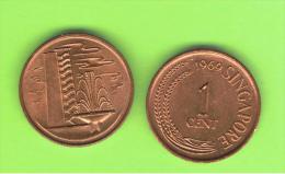 SINGAPUR - SINGAPORE - 1 Cent KM1 - 1969 - Singapur