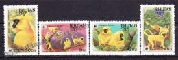 Bhutan - Bhoutan 1984 Yvert 621- 24, WWF, Fauna Protection, Endangered Species - MNH - Bhoutan