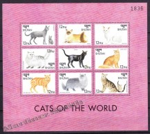 Bhutan - Bhoutan 1999 Yvert 1450- 58, Fauna, Domestic Animals - Cats - MNH - Bhutan