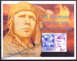 Bhutan - Bhoutan 2002 Yvert 1661- 62, 75th Anniversary Of The First Solo Trans Atlantic Flight - Charles Lindbergh - MNH - Bhoutan