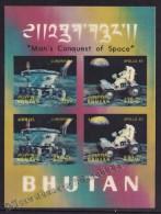 Bhutan - Bhoutan 1971 Yvert BF 41 - Lunokhod I & Apollo XV - Man's Conquest Of Space  - MNH - Bhoutan