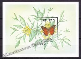Bhutan - Bhoutan 1989 Yvert BF 197, Fauna, Butterflies - Miniature Sheet - MNH - Bhoutan