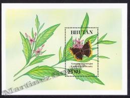 Bhutan - Bhoutan 1990 Yvert BF 217, Fauna, Butterflies - Miniature Sheet - MNH - Bhoutan