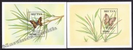 Bhutan - Bhoutan 1992 Yvert BF 324- 25, Fauna - Butterflies - Miniature Sheet - MNH - Bhoutan