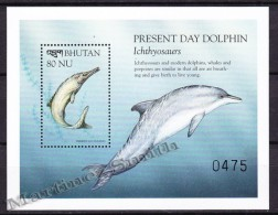 Bhutan - Bhoutan 1999 Yvert BF 375, Fauna Evolution, Dolphin - Miniature Sheet - MNH - Bhutan