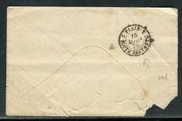 """France - Oblitération """" Paris Poste Restante 1876 """" Au Dos D ' Une Petite Enveloppe De Paris - Réf D 38 - Postmark Collection (Covers)"""