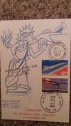 CPSM AVION CONCORDE 1 ER VOL 22 NOVEMBRE 1977 PARIS NEW YORK TIMBRE CACHET  DOC TRASPORTE A BORD CERTIFIE HUISSIER - 1946-....: Era Moderna