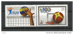 URUGUAY. Fédération Uruguayenne De Basket-Ball.  2 T-p Neufs ** Se-tenant - Uruguay