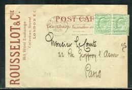 Grande Bretagne - Carte Commerciale De Londres Pour Paris En 1905 - Réf D 39 - Briefe U. Dokumente