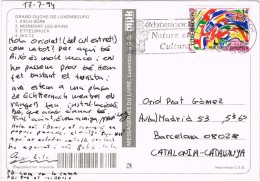 20477. Postal ECHERNACH ( Luxemburg) 1994. Flamme Nature Et Culture - América Del Norte