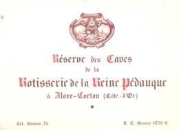 ALOXE CORTON - CDV - RESERVE DES CAVES De La ROTISSERIE DE LA REINE PEDAUQUE - BEAUNE TEL 43 - Non Classificati