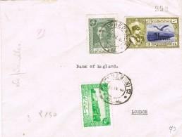 20479. Carta Aerea  Certificada TEHERAN (Iran) 1945. Stamp Surcharge IRAN - Iran