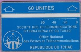 TCHAD 5 °° 60 Unités Bleue - Verso Inversé 706F02374  **  LUXE - Chad