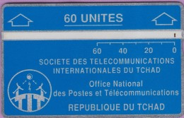 TCHAD 5 °° 60 Unités Bleue - Verso Inversé 706F02374  **  LUXE - Tsjaad