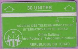 TCHAD 4 °° 30 Unités Verte – Verso Inversé 244A13356  **  LUXE