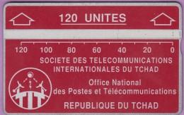 TCHAD 6d °° 120 Unités Rouge – Verso Inversé 422002917 ° T B E