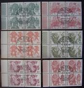 SUIZA - IVERT Nº 1033-38 - USADOS EN HOJITAS CON TODOS LOS DENTADOS - - ( M 179 ) - Suiza