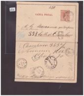 ARGENTINE - GANZSACHE - CARTE-LETTRE ENTIER POSTAL - Postal Stationery