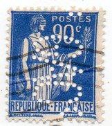 France - N°368 - 90c Type Paix Perforé G A C ° - GAC - Perfin - France