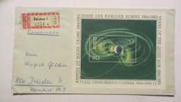 """DDR Bis 65: R-Brief Mit 70 Pf """"Jahr Der Ruhigen Sonne"""" Portorichtig Als Fernbrief Aus Zwickau 1 (0254) Knr: Bl. 22"""