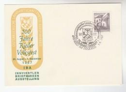 1967  AUSTRIA 100th Anniv RIEDER VOLKSFEST Folk Festival EVENT COVER  Heraldic Card Stamps - 1945-.... 2nd Republic