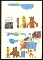 1996 - Max.cards Millseries R390 En R391 - 20 Years Sesame Street [B19_004]