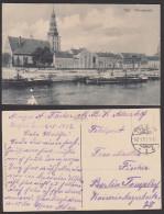 Tilsit Sowetsk Kaliningrad Ostpreußen AK Memelstraße  Mit Fluss , Um 1917 Deutsche Reich - Ostpreussen