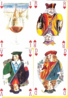 As Roi Dame Et Valet De Coeur Pub Pour Dégustation De Vin - Cartes à Jouer Classiques