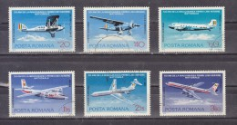 1976 - 50 Anniv. De La Premier Ligne Aerienne Mi No 3343/3348 Et Yv 239/244 - Gebraucht