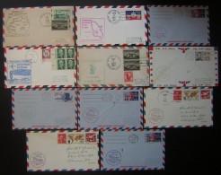 Etats Unis Lot De 11 Lettres First Flight, En Majorité Des Années 1960 - Air Mail